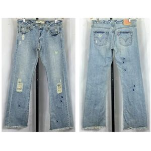 Levi Slouch Bootcut Butterfly & Hummingbird Jeans